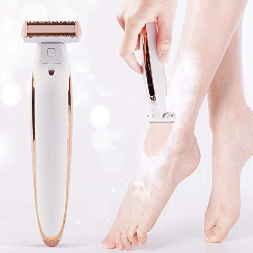 ZGYQGOO Damen-Elektrorasierer, Damen-Folienrasierer Schnurlose Haarentfernung Nass- oder Trockengebrauch mit Trimmer