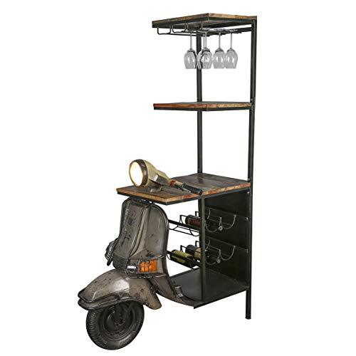 Casablanca Geniales Weinregal Roller 185cm Metall Holz Regal Vespa Motorrad