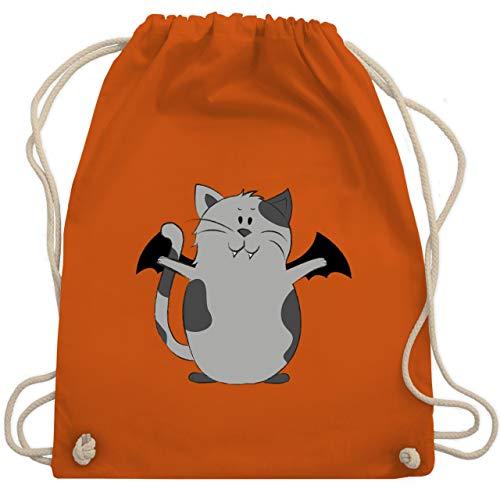 Halloween - Katze Halloween - Unisize - Orange - WM110 - Turnbeutel & Gym Bag