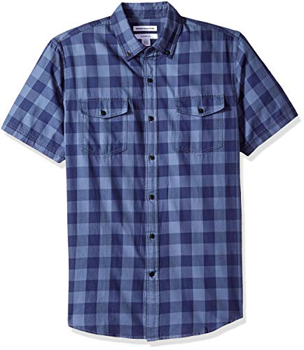 Amazon Essentials - Camisa sarga corte entallado dos