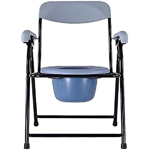 Asiento de inodoro para el baño plegable portátil móvil de ancianas las sillas de tocador Silla Con