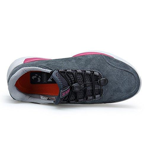 Gomnear Atmungsaktive Schuhe Männer Frauen Leicht Winter Mode Paar Draussen Laufender Sneaker Wgrau