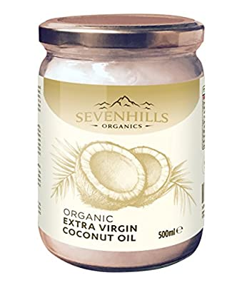 Sevenhills Wholefoods Organic Extra Virgin Raw Coconut Oil (cold-pressed), Soil Association certified organic
