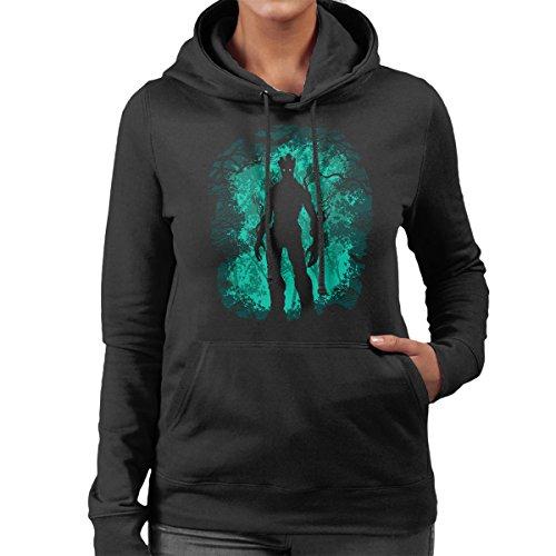 Guardians Of The Galaxy Groot Forest Women's Hooded Sweatshirt Black
