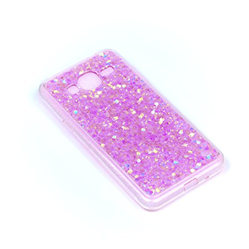 Coque pour Samsung Galaxy J5 2016 J510,Ultra Mince Paillette Protection Protecteurs Bumper Coquille Arrière Crystal Glitter Shinning Solide Skin Classique Portable Hybrid Rigide Shell,Pink Pink