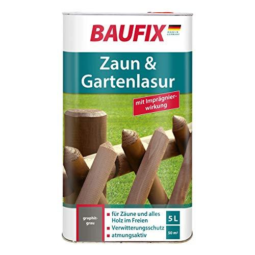 BAUFIX Zaun- und Gartenlasur Graphitgrau