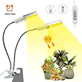 Lampe de plantes à LED avec spectre complet 40 W/88 LED | avec fonction timing 4 types de luminosité, E27 pour plantes d'intérieur 360 ° réglable USB [Classe énergétique A+]