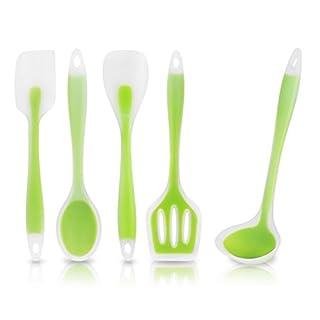 5x Kochen Tools Set, aigumi Küchenutensilien aus Silikon Kochutensilien hitzebeständig Backen ungiftig- und leicht zu reinigen
