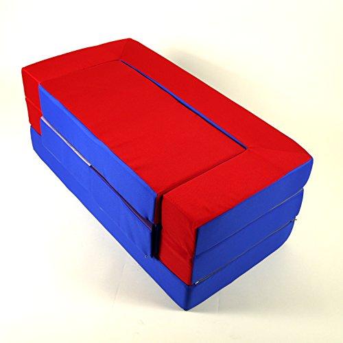 Spielsofa 4in1 Kindersofa Spielmatraze für das Kinderzimmer Spielpolster Softsofa blau/rot Puzzle Kinderzimmersofa Spieltisch Kindermöbel - 2