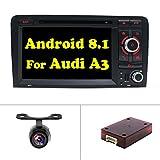 Android 8.1 Doppel-Din-Autoradio für Audi A3 2003,2004,2005,2006,2007,2008,2009,2010,2011,YUNTX Octa Core 17,8 cm 2G 16G Autoradio mit integriertem Navigationssystem, Rückfahrkamera