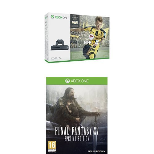 Pack Console Xbox One S 500 Go Storm Grey + Fifa 17 + Final Fantasy XV -  édition spéciale