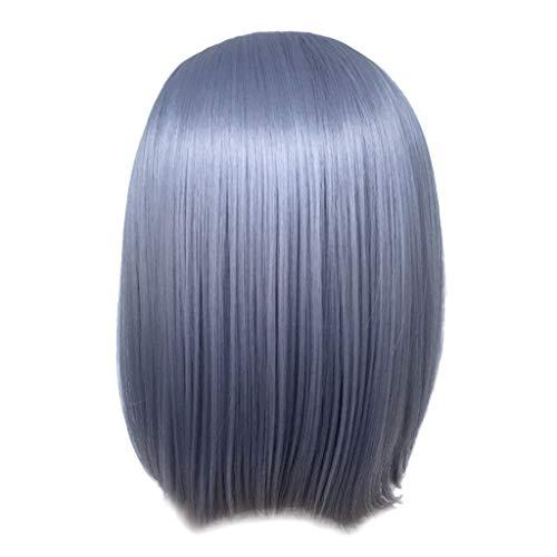 DOGZI Perücke Synthetik Perücke Hitzeresistente Perücken, Frauen Mode Dame Gradient Kurze Glatte Haare Cosplay Party Perücke