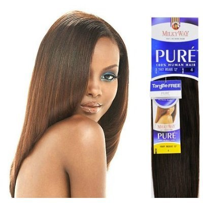 PURE YAKY WEAVE 18 - MilkyWay 100% Human Hair Weave Extensions #1 by Milky Way