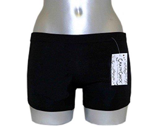 MyMixTrendz - Pantalons Femmes extensible plaine de couleur chaude Noir