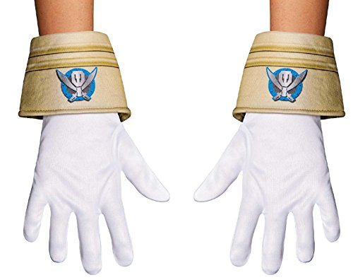 Super Megaforce Power Rangers Special Ranger Child Costume Gloves (Megaforce Power Rangers Kostüm)