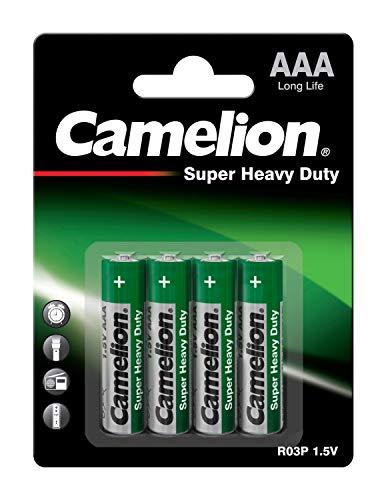 Camelion 10000403 Super heavy duty Batterien R03/ Micro/ 4er Pack