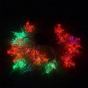 Shatchi 6217-LED-LIGHTS-ANGLE-MULTI-1PK - Guirnalda de luces LED (3,3 m, funciona con pilas, 20 unidades), multicolor