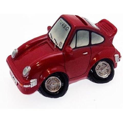 Colección de la novedad rojo deportes Turbo coche caja de dinero