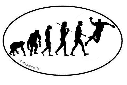 Shirtzshop HANDBALL HAND BALL HANDBALLER EVOLUTION serie 1.0 Aufkleber Autoaufkleber Sticker Vinylaufkleber Decal