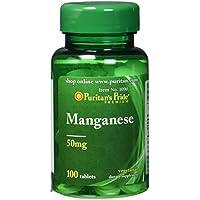 Puritan's Pride Manganese 50 mg (100 Tabletten)