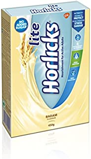 Horlicks Lite Health and Nutrition drink - 450 g Refill pack (Badam flavor)