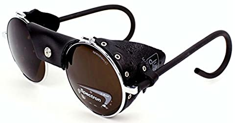 Julbo Vermont Classic Mountaineering Sunglasses - Black, Spectron 4 Lens / Anti Glare Reflection Reflect Fog UV Sun Glasses Shades Goggle Ray Eye Protection Protective Protector Protect Eyewear Face Head Wear Clothing Clothes Hiking Hike Skiing Ski Walking Walker Walk Hill Mountaineer Mountain Adult Unisex Man Men Drus Sherpa Style Explorer Explore Gear Kit Metal Frame Side Shield Safety Safe Multi Sport Outdoor Driving Driver Car Day Vision Lightweight Polarised Lenses Vintage Golf Glacier