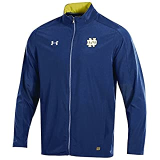 Under Armour Charger NCAA Men's Field Sideline Full-Zip Warm-Up Jacket, Navy, XX-Large
