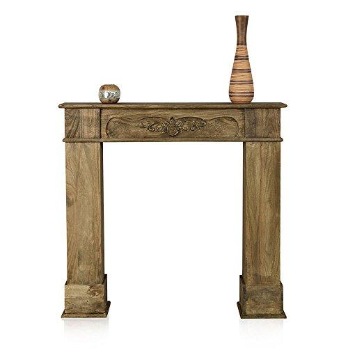 Melko® Kaminumrandung im Landhaus Stil - Deko Kaminumbau aus Holz, Modell 1773