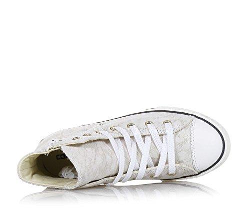 Converse - Converse Ctas Side Zip S Scarpe Sportive Pelle Beige Oro Beige