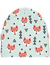 MAXOMORRA Jungen Mütze Grün Fuchs Fox BioBaumwolle Gots