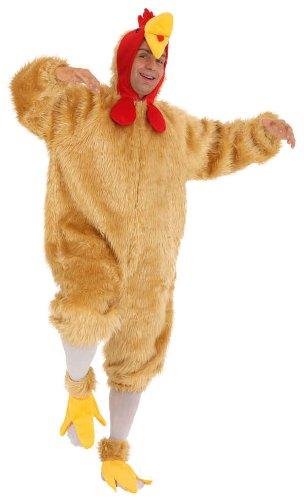 Hahn Overall Herren Kostüm als Vogel verkleiden an Karneval Fasching