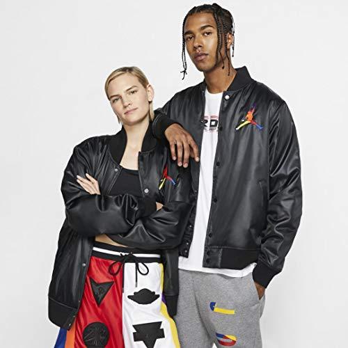 Nike Herren M J SPRT DNA HBR Satin JKT Sport Jacket, Black/Amarillo, XL