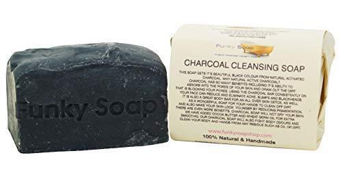 Funky Soap Dunkelgrau Reinigung Seife 100% Natürlich Handgemacht, 1 bar Of 120g -