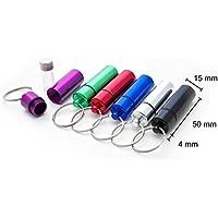 6er Set Pillendose 54 x 15 mm Pillenbox Tablettendose Schlüsselanhänger Alu Mini Box Dose Pillen Kapsel Aufbewahrungsbox... preisvergleich bei billige-tabletten.eu