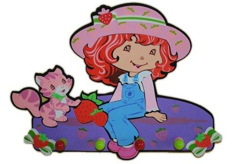 Unbekannt 3-D Garderobe Emily Erdbeer Moosgummi 4 Haken Kind Kinder Mädchen Frucht - Emily Baby Möbel