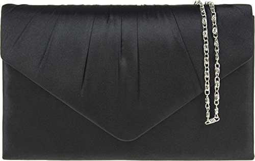 H&G Damen Designer Satin-Effekt Mode Kupplung \ Abend Handtasche (Handtasche Satin-damen-medium)
