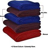 Exporthub 5 Piece Fleece Single Blanket Set - Multicolour