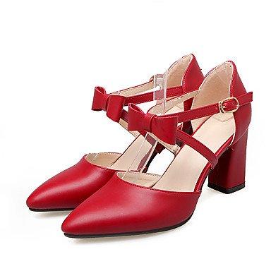 Talloni delle donne Primavera Estate Autunno Inverno Dress Club Scarpe PU ufficio & carriera Party & Sera tacco grosso Bowknot Rosa Beige Pink