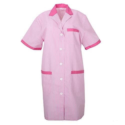 MISEMIYA - Laborkittel Frau Kurze ÄRMEL ARBEITSUNIFORM KLINIK Krankenhaus Reinigung TIERARZT Gesundheit GASTGEWERBE - Ref.T8162 - Medium, Pink