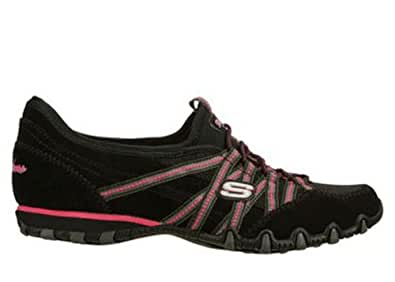Skechers Women's Bikers quick Step Low-Top Sneakers black Size: 4.5