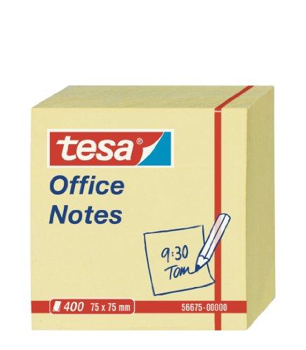 tesa Notes Haftnotizen, 400 Blatt, gelb, 7,5cm x 7,5cm