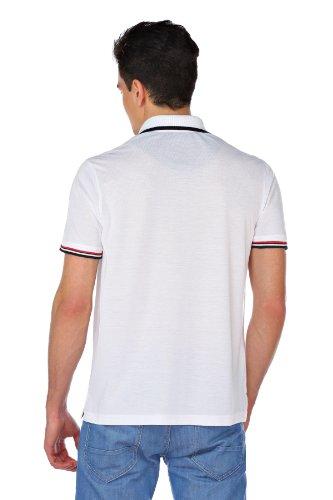 M.Conte Herren Polo-Shirt Polohemd Polo Kurzarm Polokragen Rot Blau Weiss M L XL XXL XXXL Onorio Weiß