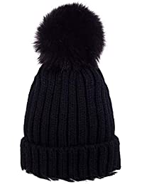 Fansport Knitted Hat Beanie Hat Fashion Pom Pom Winter Warm Hat for Women Men
