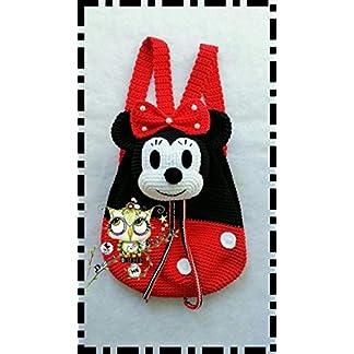 41khke5JSXL. SS324  - Mochila Minnie Mouse PERSONALIZABLE (Bebé, crochet, ganchillo, muñeco, peluche, niño, niña, lana, mujer, hombre) MODA, ESCOLAR, MALETA, AMIGURUMI