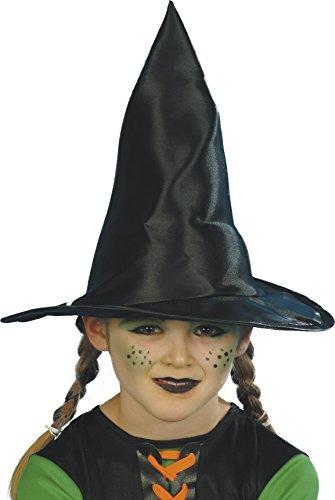 Smiffys, Mädchen Hexen Hut, 30cm Durchmesser, One Size, Schwarz, 23122 (Elegante Hexe Hut)