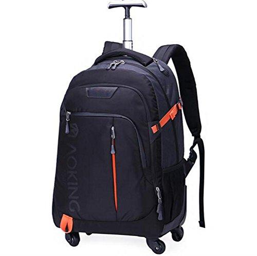 WDGT Trolley-Tasche Geschäft Laptop Rucksack Fliegen genehmigt Leichtgewicht Wasserdicht Reisen 4 Runden Trolley-Tasche