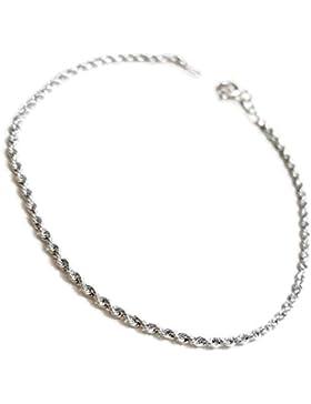 Damen Seil Armband Weißgold 18kt 750/000GR. 1,30–18K 750White Gold Bracelet For Woman