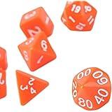 7pcs/Set Games Multi Sides Acrylic Dice D4 D6 D8 D10 D12 D20 Game Playing On Sale