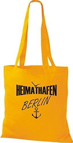 Shirtstown Stoffbeutell Heimathafen Berlin viele Farben Goldgelb