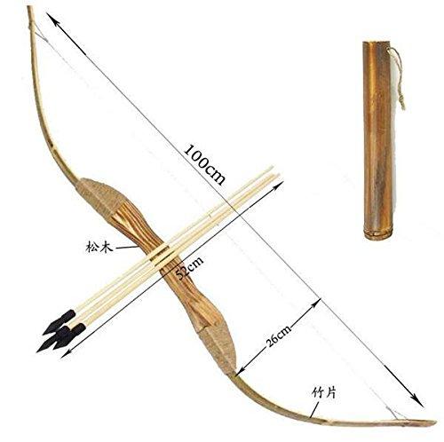 Toparchery Bambus Bogen 100cm Pfeil 50cm Kinder Bogenschießen Set Kinderbogen Kinder Spaß-Spielzeug